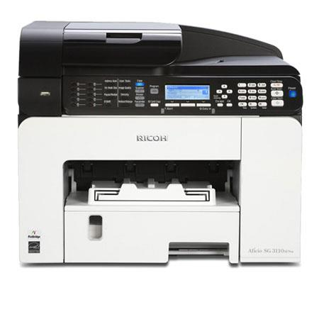 Ricoh Aficio SG 3110SFNw GELJET Multifunction Printer, 29ppm Print Speed, 3600 x 1200dpi Print Resolution, 250 Sheets Paper Tray, 100 Sheets Output