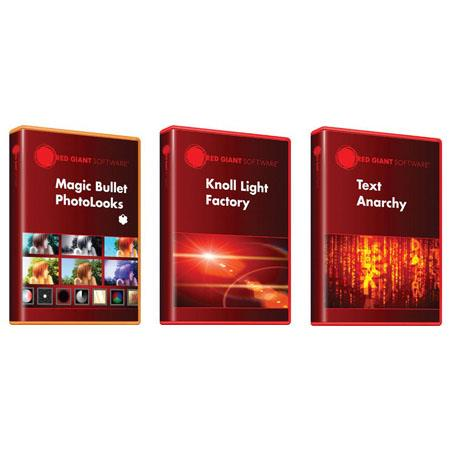 Red Giant Adorama Production Bundle: includes Knoll Light Factory for Photoshop, Magic Bullet PhotoLooks V1.5, Red Giant Text Anarchy V2.4 Software, Software fo