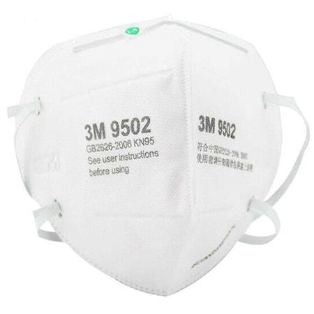 3M KN95 9502+ Particulate Respirator Headband Type Face Mask, 50-Pack
