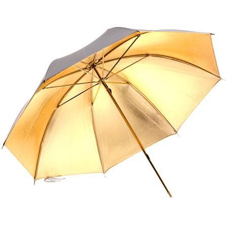 """Adorama 30"""" Umbrella - Gold / White - GOLD Inside White Outside (RGU32GW 32GOLD/White) photo"""