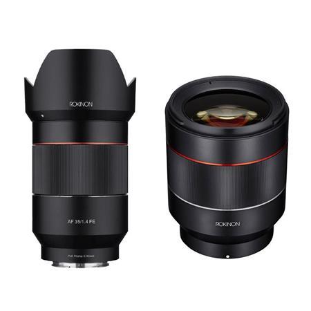 Rokinon 35mm f/1.4 Auto Focus Lens for Sony E-mount Nex Series Cameras - With Rokinon Auto Focus 50mm f/1.4-16 FE Lens for...