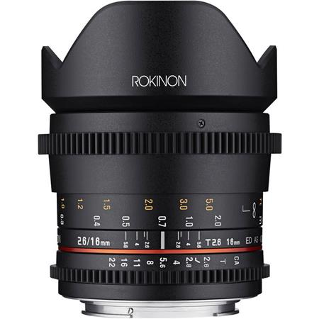 Rokinon 16mm T2.6 Cine DS Full Frame Lens for Canon EF Mount