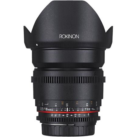 Rokinon 16mm T2.2 Cine DS Lens for Canon EF-S Mount
