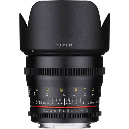 Rokinon Rokinon 50mm T1.5 Cine DS Lens for Sony E Mount, 6 Groups/9 Elements, 1.5' Minimum Focussing Distance