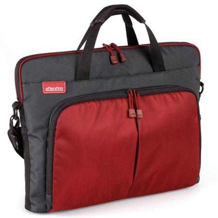 "Skooba Techlife Slim Case for 15-15.6"" Laptops, Charcoal/Red"