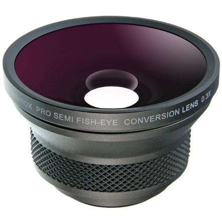 Raynox HD-3035 Pro, 0.3x High Definition Semi Fisheye Conversion Lens for 37mm Filter Thread, with 5 Adapters Rings and LS-03W Lens Shade