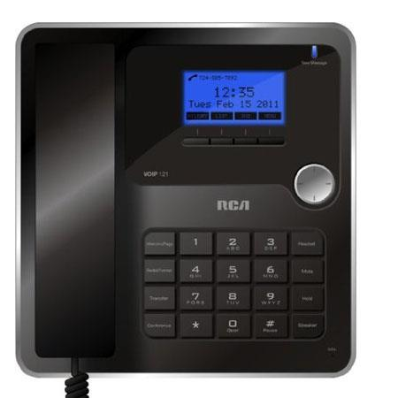 RCA Handset 3-Line HD Voice VoIP Telephone with Caller ID, 3 SIP Regs, HD Voice, SP