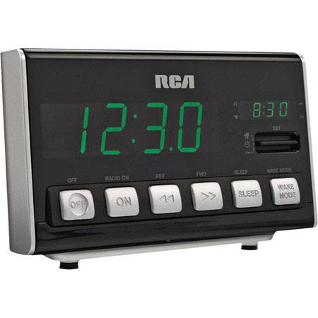 RCA RC10 AM/FM Digital Clock Radio with Large LED Display image