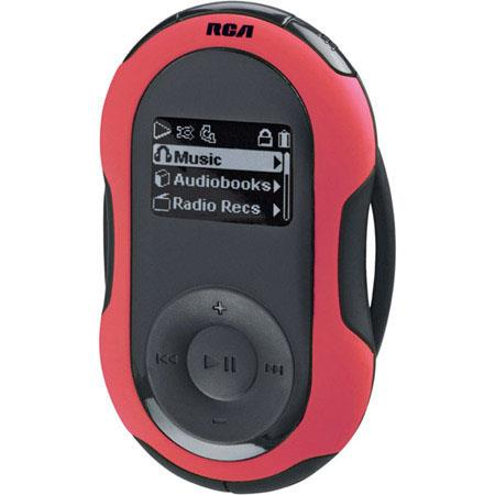 RCA S2102 2 GB Jet Sport Series Mp3 Audio Player with Armband, FM Tuner, Pedometer image