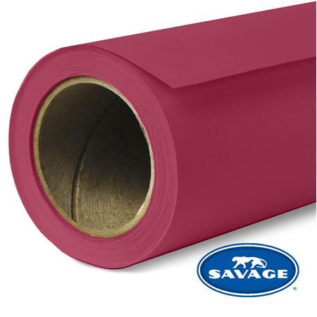 "Savage Widetone Seamless Background Paper, 107"" wide x 150' Crimson, #6"
