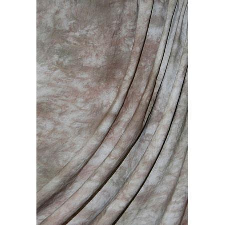 Savage Accent Series, 10x12' Dyed Crushed Muslin Background, Style; Mocha Bisque, Color: Medium Brown with Gray & White Swirls