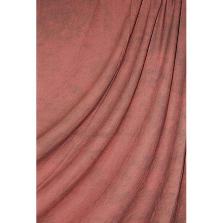 Savage Accent Series, 10x24' Dyed Crushed Muslin Background, Style; Sedona Red, Color: Medium Red with Dark Gray Swirls