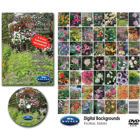 Savage Digital Backgrounds DVD, Floral Series, for Mac & Windows