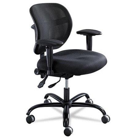 safco vue sea intensive use mesh task chair black 3397bl