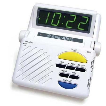 Sonic Alert Sonic Boom Alarm Clock with Receiver & Lamp Connection