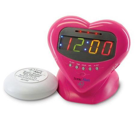 Sonic Alert Sonic Boom Sweetheart Alarm Clock with Super Shaker