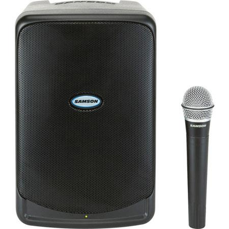 Samson SAXP40IW Portable PA Speaker with iPod Dock, Wireless Microphone System