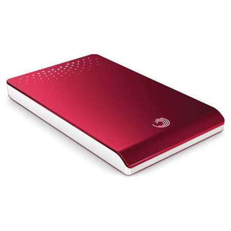 Seagate 320GB FreeAgent Go Portable Hard Drive, 5400 rpm, USB 2.0, Red image