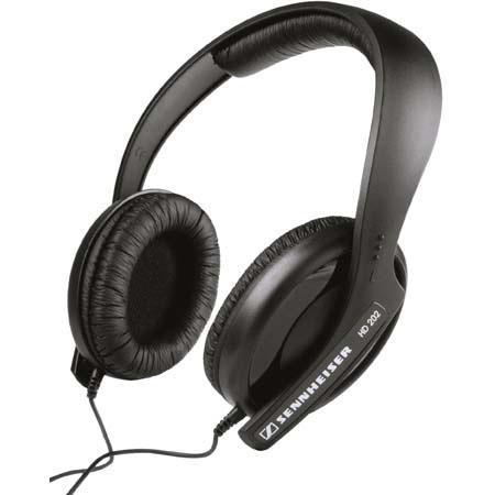 Sennheiser HD202 Semicircumaural Closed Back Hi-Fi or DJ Monitoring Headphones image