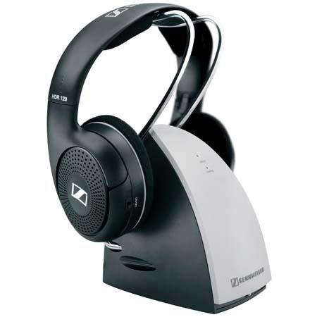 Sennheiser RS120 RF 900 MHz Open-Aire, Supra-Aural Wireless Stereo-RF Headphone System with Base Transmitter & Charger image