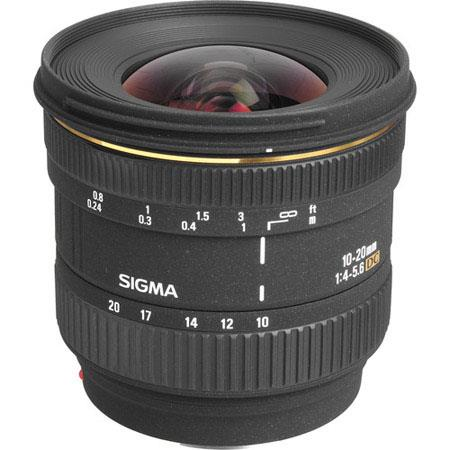 Sigma 10mm - 20mm f/4-5.6 EX DC Autofocus Zoom Lens for the Maxxum & Sony Alpha Mount. image