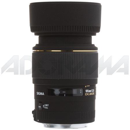 Sigma 105mm f/2.8 EX DG AF Telephoto Macro Lens for Canon EOS Cameras image