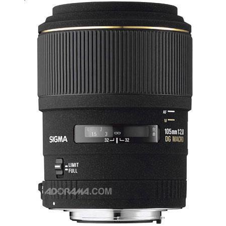 "Sigma 105mm f/2.8 EX ""DG"" AF Telephoto Macro Lens for Sigma Cameras image"
