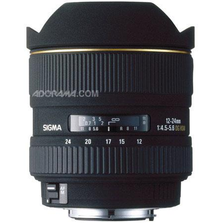 Sigma 12mm-24mm f/4.5-5.6 EX DG Aspherical Autofocus Super Wide-Angle Zoom Lens, for the Maxxum & Sony Alpha Mount. image