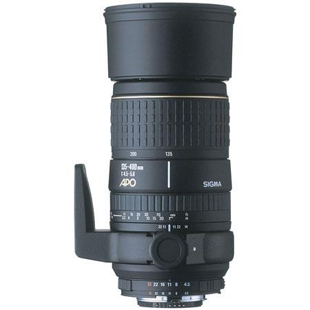Sigma 135-400mm f/4.5-5.6 DG APO Aspherical AutoFocus Telephoto Zoom Lens with Hood & Case for Nikon AF D Cameras image