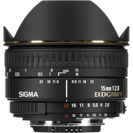 Sigma 15mm f/2.8 EX DG AutoFocus Diagonal Fish-Eye Lens for Nikon AF D Cameras image