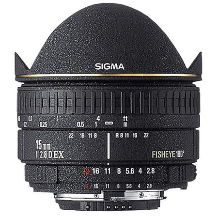 Sigma 15mm f/2.8 EX DG AutoFocus Diagonal Fish-Eye Lens with Hood & Gel Holder for Pentax AF Cameras image