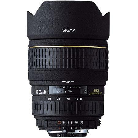Sigma 15-30mm f/3.5-4.5 EX Aspherical DG DF AutoFocus Super Wide Angle Zoom Lens with Hood for Canon EOS Cameras image