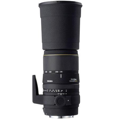 Sigma 170-500mm f/5-6.3 DG APO Aspherical AutoFocus Telephoto Zoom Lens for Nikon AF D Cameras image