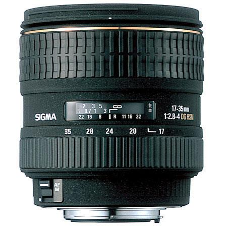 Sigma 17-35mm f/2.8-4 EX DG Aspherical HSM AutoFocus Super Wide Angle Telephoto Lens for Nikon Af Cameras image