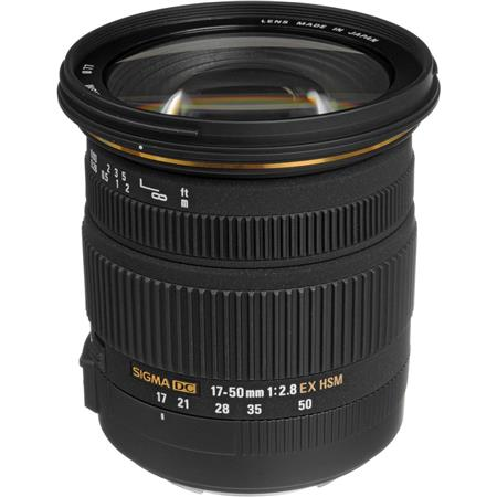 Sigma 17 - 50mm f/2.8 EX DC OS HSM Auto Focus Wide Angle Zoom Lens for for Canon EOS Digital SLR Cameras. image
