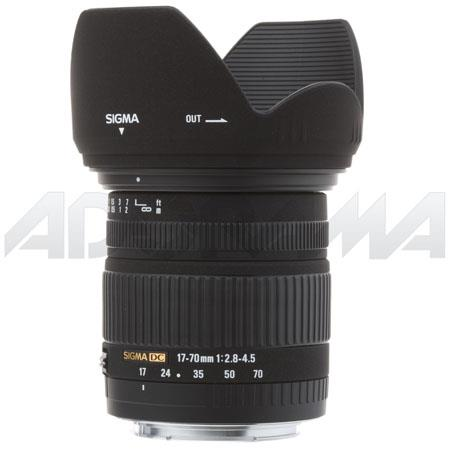 Sigma 17-70mm f/2.8-4.5 DC Macro AutoFocus Super Wide Angle Zoom Lens for Canon EOS Digital Cameras image