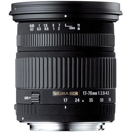 Sigma 17 - 70mm f/2.8-4.5 DC Macro AutoFocus Wide Angle Zoom Lens for Pentax AF Cameras image
