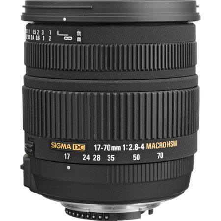 Sigma 17-70mm f/2.8-4 DC Macro OS (Optical Stabilizer) HSM AutoFocus Super Wide Angle Zoom Lens for Nikon AF & Digital Cameras image