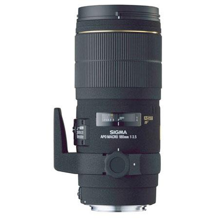 Sigma 180mm f/3.5 DG EX APO Macro IF HSM AutoFocus Telephoto Lens with Hood for Pentax AF Cameras image