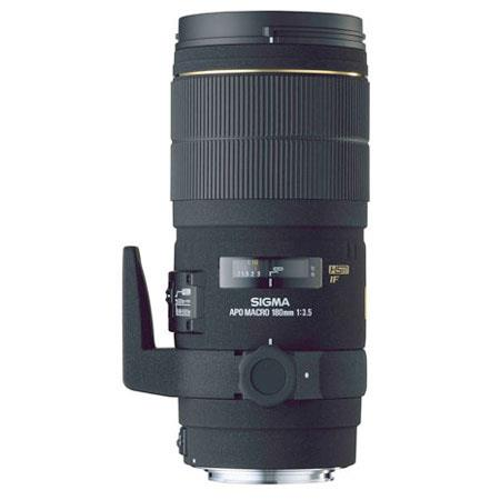 Sigma 180mm f/3.5 EX DG APO Macro (1:1) IF HSM Digital AutoFocus Telephoto Lens with Hood for Sigma Cameras image