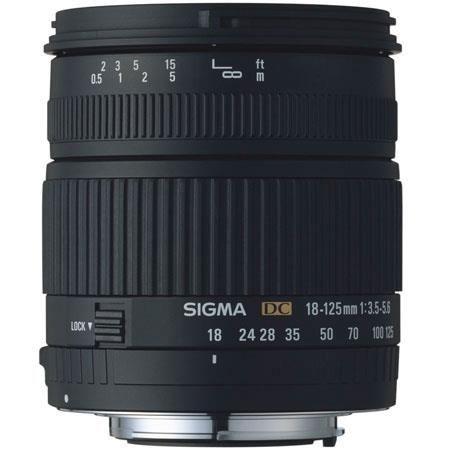 Sigma 18mm - 125mm f/3.5-5.6 DC Autofocus Zoom Lens for the Maxxum & Sony Alpha Mount. image