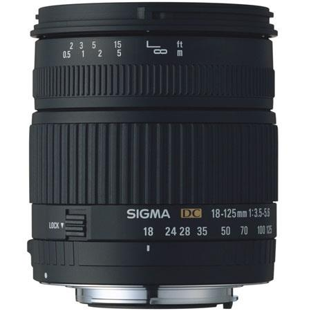 Sigma 18mm - 125mm f/3.5-5.6 DC Autofocus Zoom Lens for Nikon Digital SLR Cameras. image