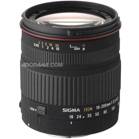 Sigma 18mm - 200mm f/3.5-6.3 DC Autofocus Aspherical Zoom Lens for the Maxxum & Sony Alpha Mount. image