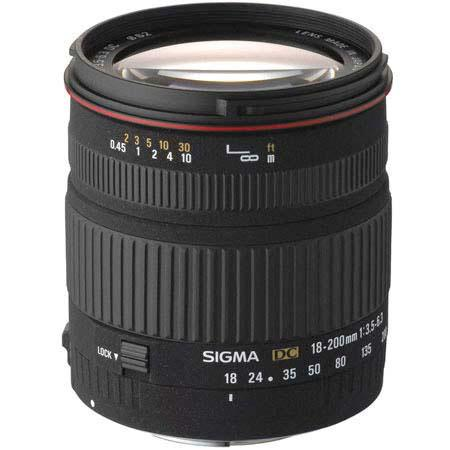Sigma 18mm - 200mm f/3.5-6.3 DC OS Autofocus Aspherical Zoom Lens for Nikon Digital SLR Cameras image