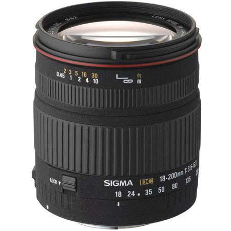 Sigma 18mm - 200mm f/3.5-6.3 DC OS Autofocus Aspherical Zoom Lens for Nikon Digital SLR Cameras image