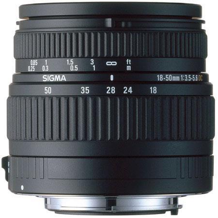 Sigma 18mm - 50mm f/3.5-5.6 DC Autofocus Aspherical Zoom Lens for Canon EOS Digital SLR Cameras image