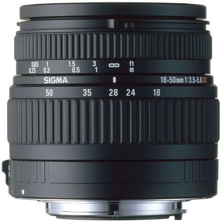 Sigma 18mm - 50mm f/3.5-5.6 DC Autofocus Zoom Lens for Olympus Four Thirds mount Digital SLR Cameras image