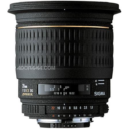 Sigma 20mm f/1.8 EX Aspherical DG DF RF AutoFocus Super Wide Angle Lens with Hood for Pentax AF Cameras image
