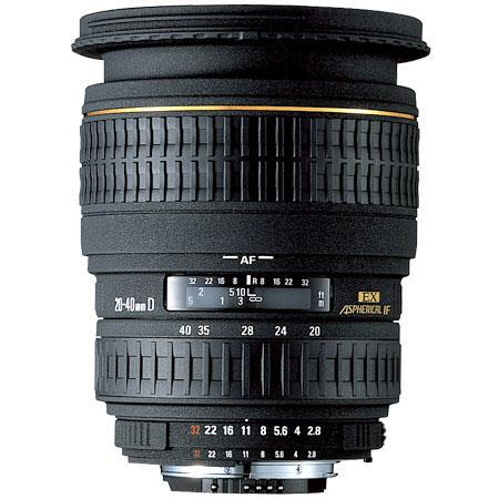 Sigma 20-40mm f/2.8 EX Aspherical DG DF AutoFocus Wide Angle Zoom Lens with Hood for Canon EOS Cameras image