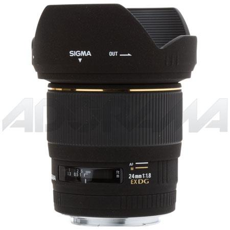 Sigma 24mm f/1.8 EX Aspherical DG DF Macro AutoFocus Wide Angle Lens with Hood for Canon EOS Cameras image